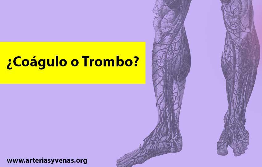 Diferencia entre coágulo y trombo
