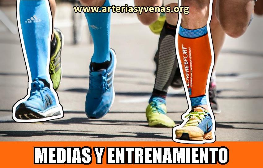 Medias de compresión deportivas y entrenamiento