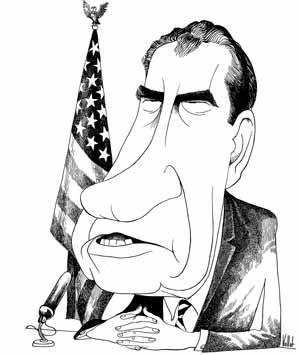 Nixon Caricatura