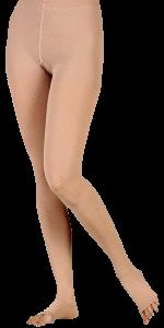 Medias panty compresivas color piel sin cubierta para dedos
